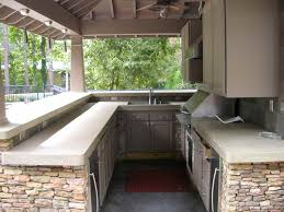 concrete countertops outdoor kitchen