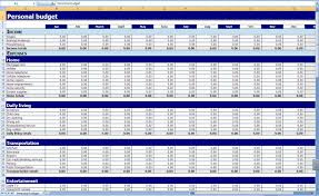 Personal Household Budget Free Sample Monthly Personal Household Budget Worksheet Excel
