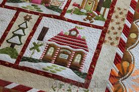 Piece N Quilt: Gingerbread Village Quilt - Custom Machine Quilting ... & This fun quilt is called Gingerbread Village and I custom machine quilted  this quilt this past week for my local quilt shop, Quilted Works. Adamdwight.com