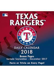 Daily Calendar Impressive Texas Rangers 48 Daily Box Calendar 48