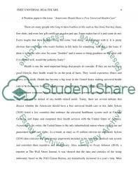 should americans have universal health care essay text