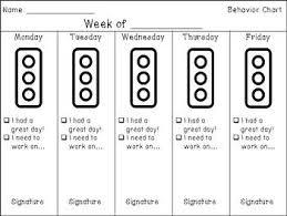 Stoplight Behavior Chart Templates Take Home Behavior Chart This Behavior Chart Uses The