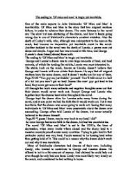 the ending to of mice and men is tragic yet inevitable one of page 1 zoom in