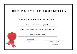 sample certificates of completion certificate of completion 003