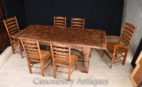 refectory table ladderback chairs dining suite farmhouse kitchen set