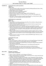Admin Job Profile Resume Administrative Aide Resume Samples Velvet Jobs