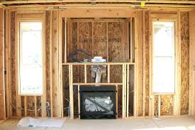 how to build a gas fireplace chase ideas framing frame above stacked stone fireplace framed