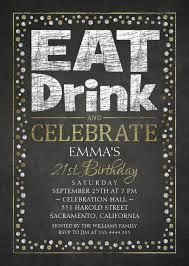 elegant 21st birthday party invitations cool black white gold invites