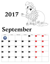 Small Picture Coloring Pages Calendar 2017 for Kids Printable 2017 Calendar