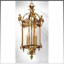 19th c french crystal and bronze hall lantern