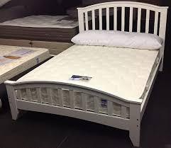 knightsbridge white kingsize wooden bed frame