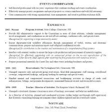 Wedding Planner Resume Coordinator Easy See More Sample Event