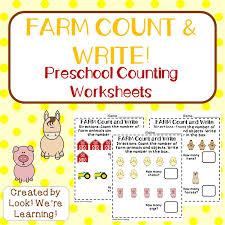 Preschool Worksheets: Fall Counting Worksheets - Look! We're Learning!