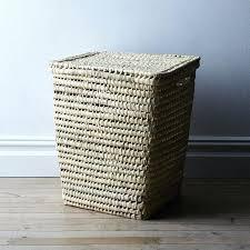 decorative laundry hamper laundry sorter metal clothes hamper with lid hampers white wooden washing basket