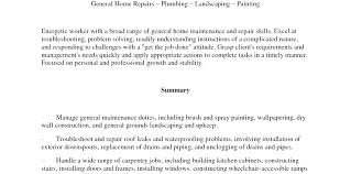 Resume Template With Objective Handyman Resume Samples Handyman Resume Sample Self Employed Job