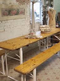 beer garden table. Painted Cottage Chic Shabby Farmhouse Beer Garden Table And Benc O