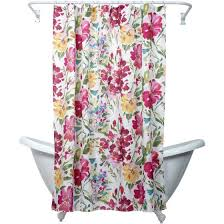 floral shower curtain. Zenna Home India Ink Watercolor Floral Shower Curtain, Multi Curtain O