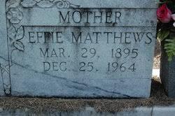 Effie Matthews Butler (1895-1964) - Find A Grave Memorial