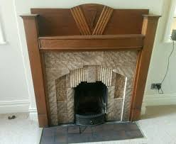 art deco fire surround and tiles 1933