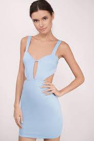 Light Blue Bodycon My Clarity Bodycon Dress