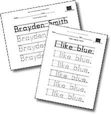 Handwriting Worksheets Maker Make Your Own Printable Handwriting Worksheets A To Z Teacher