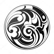 круглое тату маори круглое тату векторное изображение Akvlv