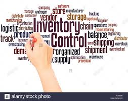 Word Inventory Inventory Control Word Cloud Hand Writing Concept On White
