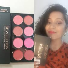 makeup revolution all about cream blush palette review swatch you