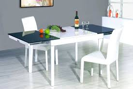 Italian Extendable Dining Table Expandable Glass And Wood Dining Table Glass Top Dining Tables