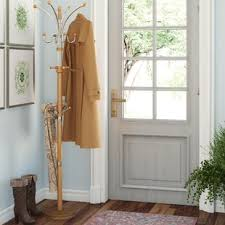 Traditional Dark Walnut Finish Wood Coat Rack Corner Coat Rack Wayfair 52