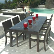 table patio outdoor wicker patio furniture new resin 7 pc patio furniture table o49