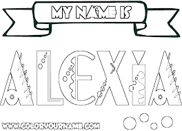 Create Your Own Coloring Pages With Name Online Free