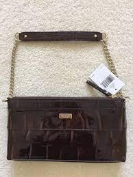 kate spade byrd patent leather knightsbridge bow shoulder bag chestnut