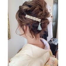 着物編結婚式のお呼ばれはセルフアレンジでできちゃう髪型でも