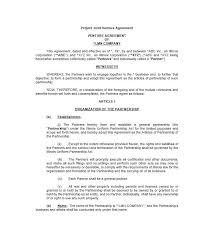 Construction Joint Venture Agreement Template