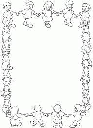 Cornice Bambini Girotondo Disegno Da Colorare Gratis Disegni Da