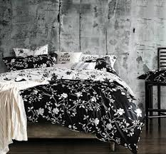 bedroom perfect fl black and white bedding set for contemporary bedroom black and white