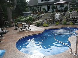 michigan in ground fiberglass pool installed in oakland county michigan