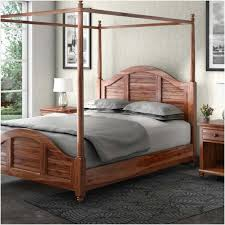 Handcrafted Solid Wood Platform Canopy Bed International Online ...