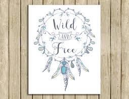 bohemian girl nursery decor printables wild and free printable art boho nature lover nursery wall