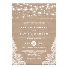 Burlap And Lace Wedding Invitations Burlap And Lace Wedding Invitations Zazzle