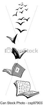 flying book drawing google search