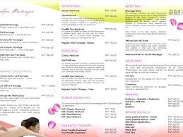 Price List Template New Student Salon Service Price List Template Bottle Menu Baycabling