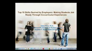 top 10 skills desired by employers making students job ready top 10 skills desired by employers making students job ready through co curriculum experiences