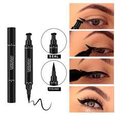 double ended eyeliner liquid pencil eyeliner triangle seal eye liner st long lasting cat eye wing style eyes makeup eye liner sts concealer makeup