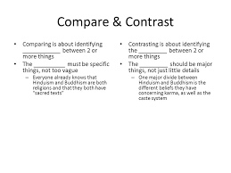 Compare And Contrast Hinduism And Buddhism Chart A Compare Contrast Of Hinduism Buddhism Ppt Video