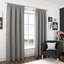 harrogate grey ready made lined voile pencil pleat tape top embroidered curtains by filigree