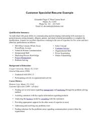 Resume Examples For Customer Service Sample Call Center Customer