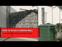 how to build a gabion wall you