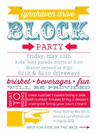 Neighborhood Party Invitation Wording Block Party Flyer Templates Luxury Free Block Party Invitation
